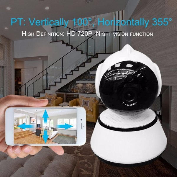 Baby Monitor Wireless WIFI IP Camera HD 720P Pan Tilt CCTV IR Night Vision Wide Angle Lens Support TF Card