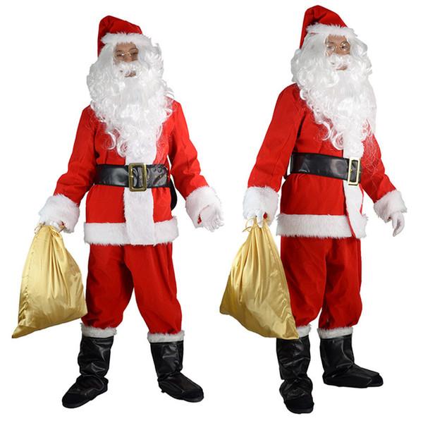 Uomo Adulto Babbo Natale Babbo Natale Costume Fantasia