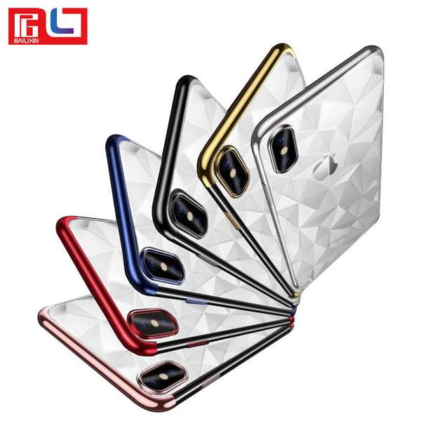 Elmas Desen Kılıf İnce Yumuşak TPU Silikon Moda cep telefonu kılıfı iPhone X 8 7 6 6 S Artı