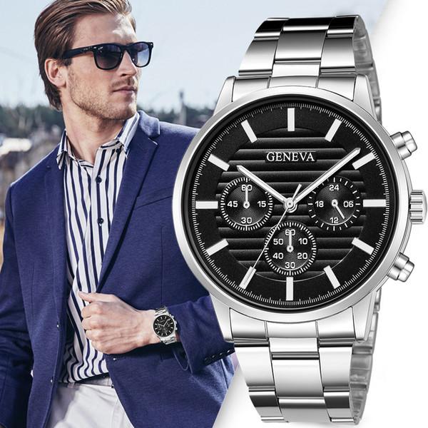 2018 Top Brand luxe Gold Montre Rose Hommes Date Horloge Montres Homme Sport Hommes Quartz Montres Casual Montre Relogio Masculino pt4