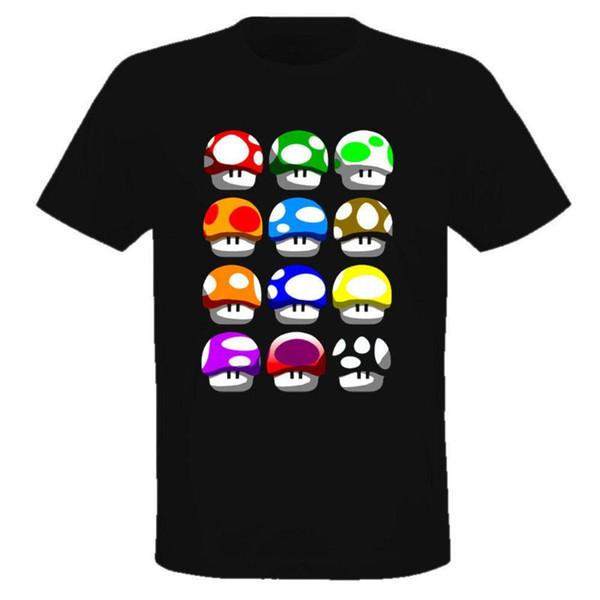 All Mario Mushrooms Video Game T Shirt