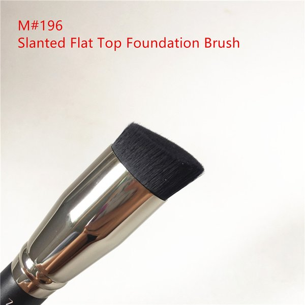 MACJAPAN 196 Slanted Flat Top Foundation Brush - Ultra-Smooth Flawless Foundation Contour Brush - Beauty Makeup Brushes Blender