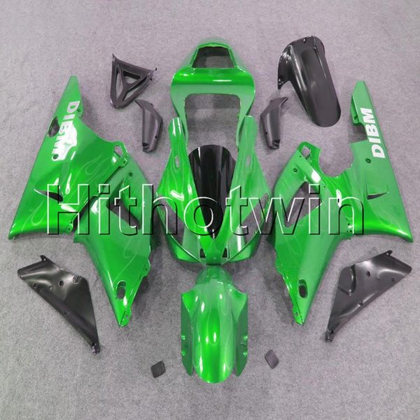 23colors+8Gifts green bodywork motorcycle cover for Yamaha YZF-R1 98 99 YZFR1 1998 1999 ABS Plastic Fairing