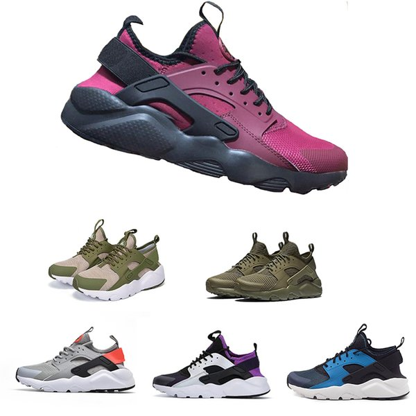 2019 Tasarım Huarache 4 IV 1.0 Koşu Ayakkabıları Kadın Erkek, Hafif Huaraches Sneakers Atletik Spor Açık Huarache Ayakkabı Promosyon!