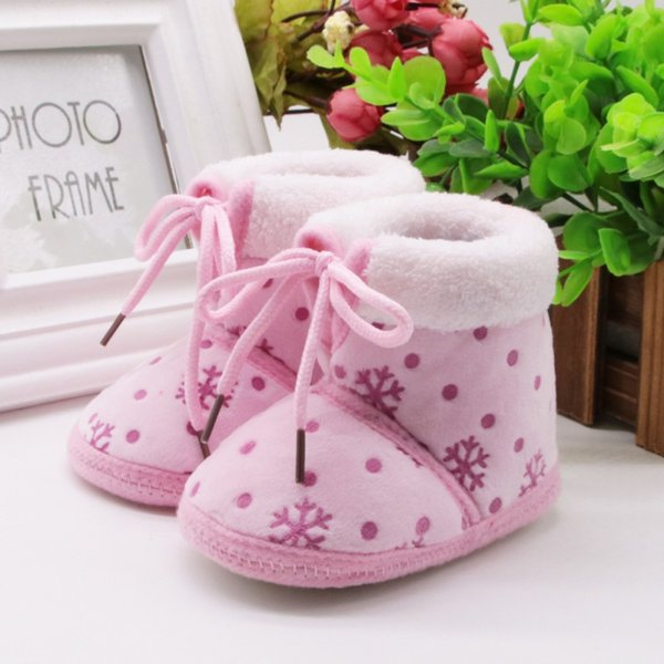 2017 Winter Autumn Baby Girl Shoes Children Infant Boys Girls Thicken Warm Boots Fashion ice Flower kids Shoes