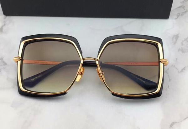 Mens Designer Oversized Square Sunglasses Gunmetal Frame gafas de sol Designer Sunglasses vintage glasses New with Box numd180721-6