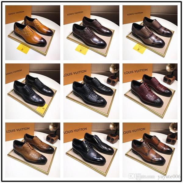 Top Toe Genuine Leather Shoes Men Stylish Slip-on Formal Shoes Fashion Tassel Loafers Luxury Mens Dress Shoes Designer