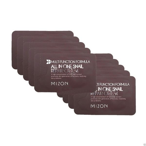 MIZON All In One Snail Repair Cream Muestra 20pcs Cuidado de la piel Crema facial coreana Hidratante