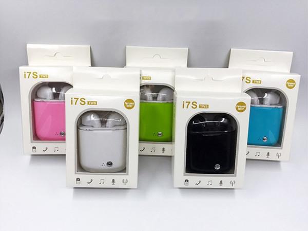 Nueva Crystal Version 2 I7 i7s TWS Gemelos Auriculares Inalámbricos Bluetooth Mini Estéreo In Ear Auriculares Auriculares Con Caja de Carga para iPhone Samsung