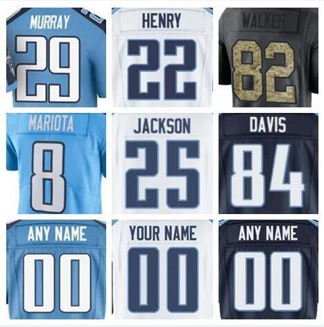 the best attitude 98768 20e79 2018 Custom Tennessee Marcus Mariota Taylor Lewan Titans Jersey Steve  McNair Salute To Service Vapor Authentic American Football Jersey Humorous  T ...