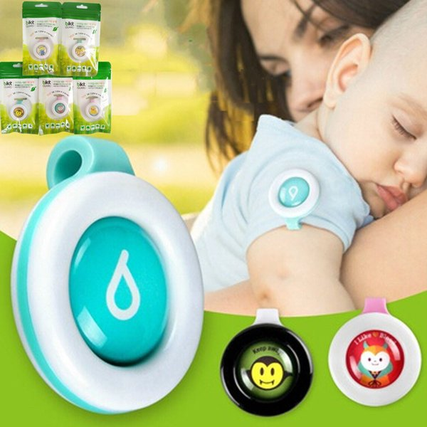 top popular Baby Anti-mosquito Button Cute Cartoon Mosquito Repellent Clip Adults Kids Summer Non-toxic Mosquito Repellent Buckle Pest Control via DHL 2019