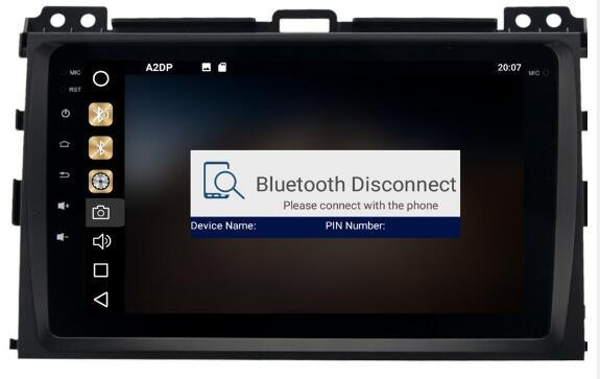8-Core 4GBRam 32GB Rom Android 8.0 10.2inch Car Dvd Gps for Toyota Prado 120 2004-2009 Radio Multimedia GPS NAVI Audio