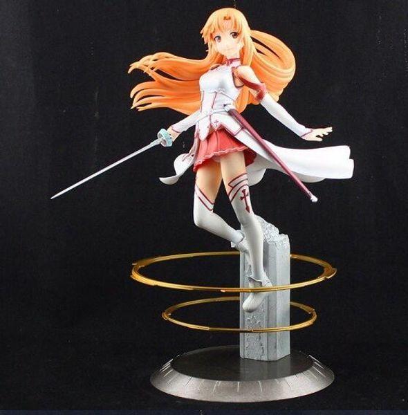 New Japanese Anime Sword Art Online Asuna PVC Action Figure Toy 22cm Cute  Aincrad Figure Toys