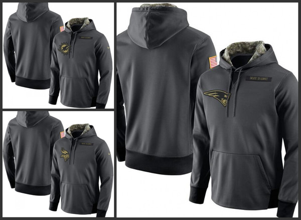 hot sale online a42f4 8b475 2018 New England Patriots Minnesota Vikings Miami Dolphins Men Anthracite  Salute To Service Player Performance Hoodie From Top_jerseys__outlet,  $31.98 ...
