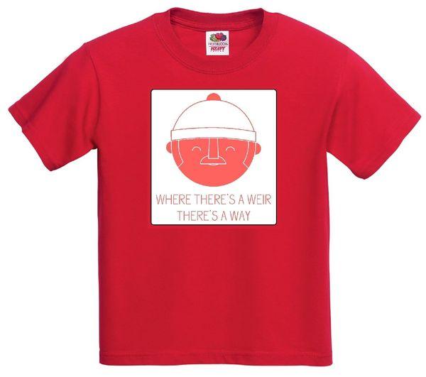 Dove c'è una Weir C'è un modo. WIR'S WAY divertente maglietta scozzese t-shirtcattt giacca a vento Pug tshirt