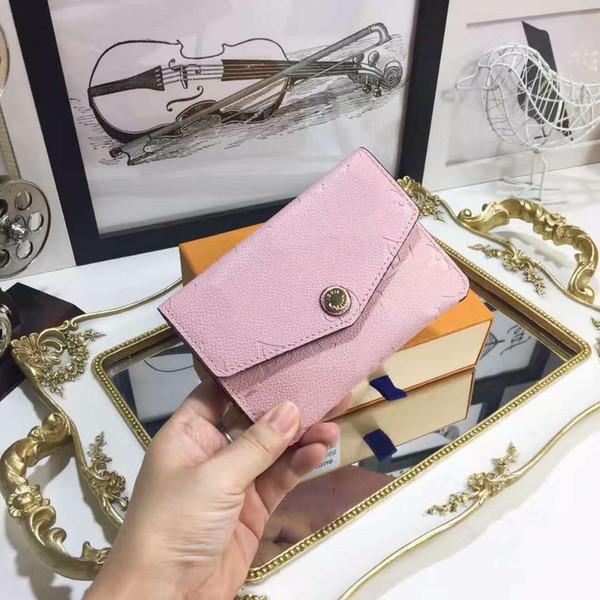 scatola originale codice di lusso portafoglio corto Porta carte da donna Pochette uomo classico empreinte tasca con cerniera Victorine
