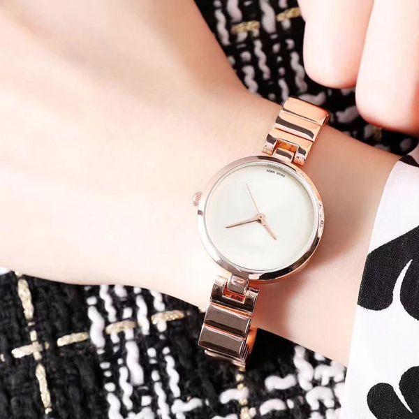 Heiße Luxusfrauenuhren Spitzenmarkenuhr für Damenmädchengeschenke Edelstahlband-Wasser-beständige Montre Femme-Uhr Freies Verschiffen
