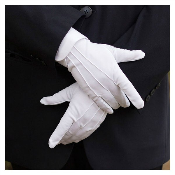 Gants formels blancs 1Pair Tuxedo Honor Parade Inspection Collection !