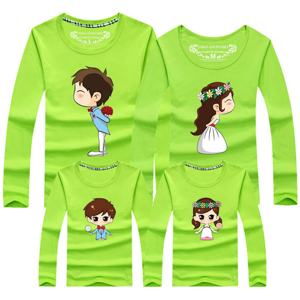 Spring Korean Couple T Shirt For Wedding Men And Women Cotton Short Sleeve T-Shirt Cute Cartoon TShirt Lovers Clothes Outfits