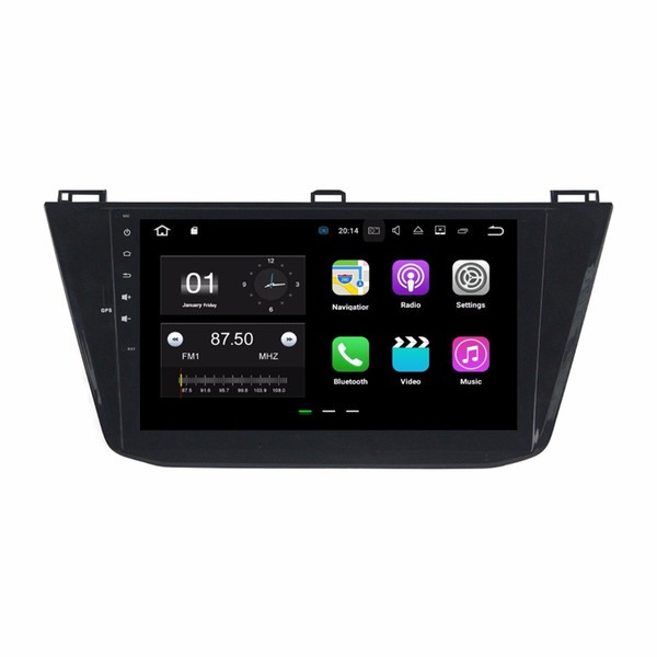 "10.1"" Android 7.1 Car Radio GPS Multimedia Head Unit Car DVD for VW Volkswagen Tiguan 2016 With 2GB RAM Bluetooth Mirror-link USB DVR"