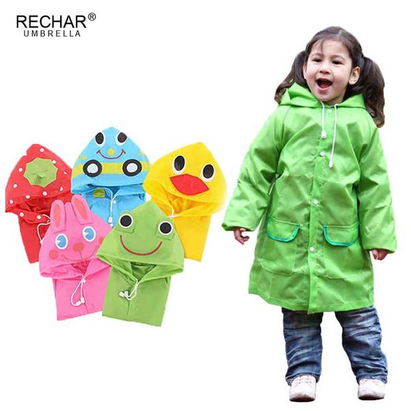 best selling New Cartoon Animal Style Waterproof Kids Raincoat For Children Rain Coat Rainwear Rainsuit Student Poncho Drop Shipping