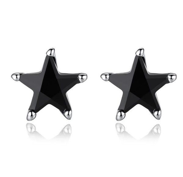 2018 new design black star earring for women Fashion jewelry Earring designer earring with extra free sample randomly