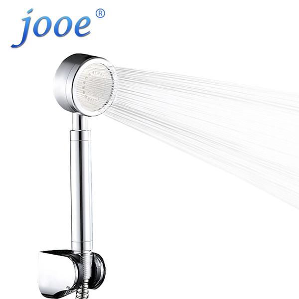 Jooe HandHeld Duschkopf Wassereinsparung Hochdruck Chrome Runde hand Bad spa Duschköpfe Badezimmer Zubehör ducha chuveiro