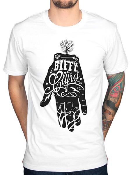 Oficial BIFFY CLYRO Mano Camiseta Apenas Revoluções Cielo NUEVO Fresco Engraçado T-Shirt Dos Homens de Alta Qualidade Tees T Camisa