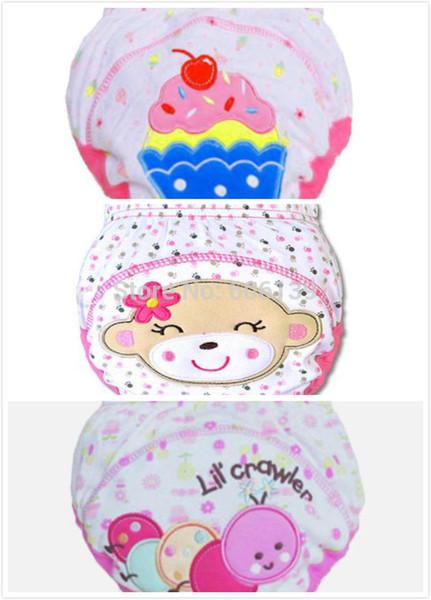 Neugeborene Unterwäsche 3pcs / lot des heißen wasserdichten Babys des Töpfchens der Säuglingsunterwäsche-Schlüpfer der Unterwäsche 3pcs / lot freies Verschiffen