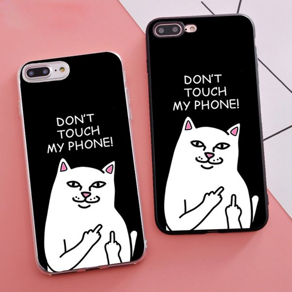 Minason Funny Pocket White Cat Мягкий силиконовый чехол для iPhone X 5 5s SE 6 S 6s 7 8 Plus Cover Trend Coque Fundas Capinh