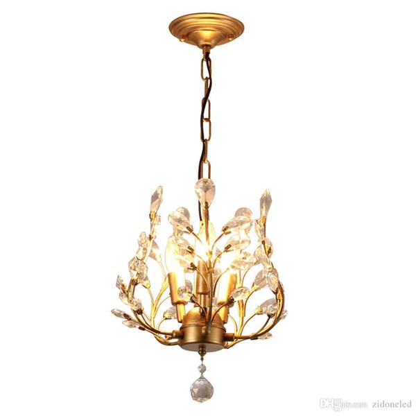 lustre led luminaires fer pendentif en cristal lumières 3 têtes lustres noir / bronze décor à la maison style village américain