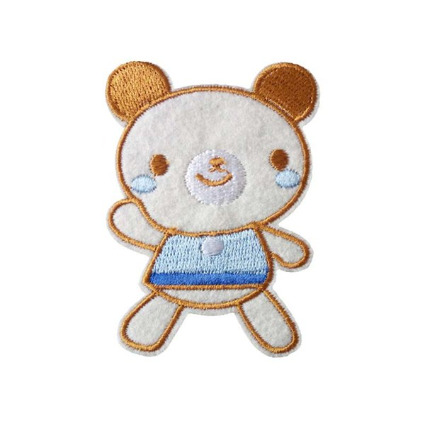 Embroidered cloth patch 5.9cm * 8.0 cm Cartoon bear appliques Back gum Iron sewing patch kids T-shirt jeans clothing accessories DL_CPIA016