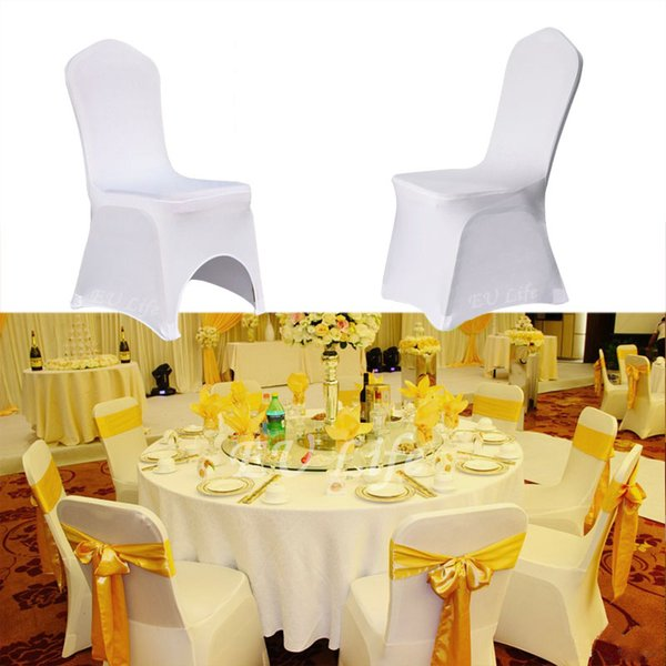 Wholesale 30 Colors Spandex Wedding Decoration Chair Covers for Weddings Banquet Folding Banquet Hotel Kitchen Accessories Craft Supplies