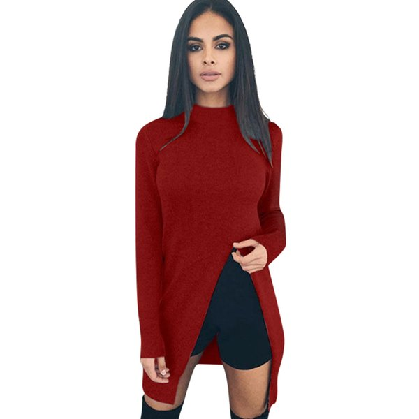 Casual Basic Women Clothes Full Sleeve Shirt Turtleneck Knitted Tshirts Tops Tee Shirts Blusa Tunic T-Shirt Work Womens LJ5765U