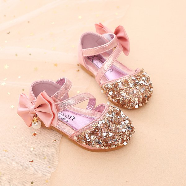 European Lovely Soft comfortable breathable summer shoes baby girls flower bling beautiful girls sandals cute elegant baby shoes