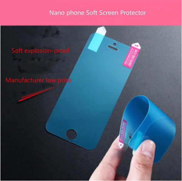 Nano Anti-Shock Soft Displayschutzfolie Explosionsgeschützt Klar Ultra Slim Schutzfolie Für iPhone X 8 Plus 7 6 6S 5 5S