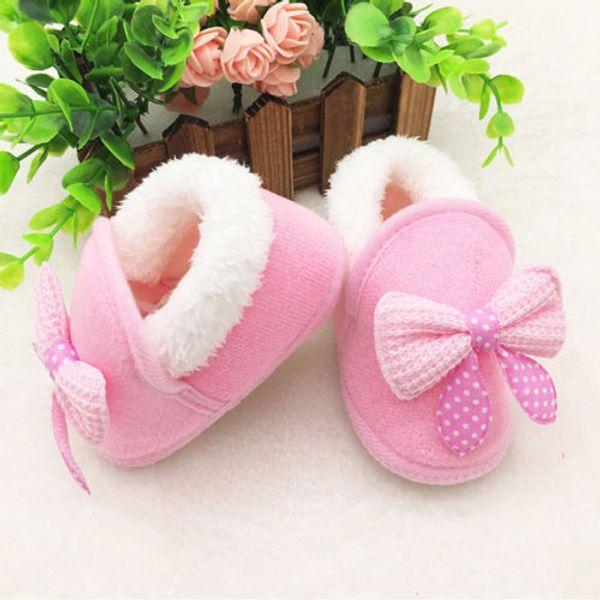 Winter Warm Newborn Baby Boy Girl Fur Snow Boots Crib Soft Shoes Prewalker