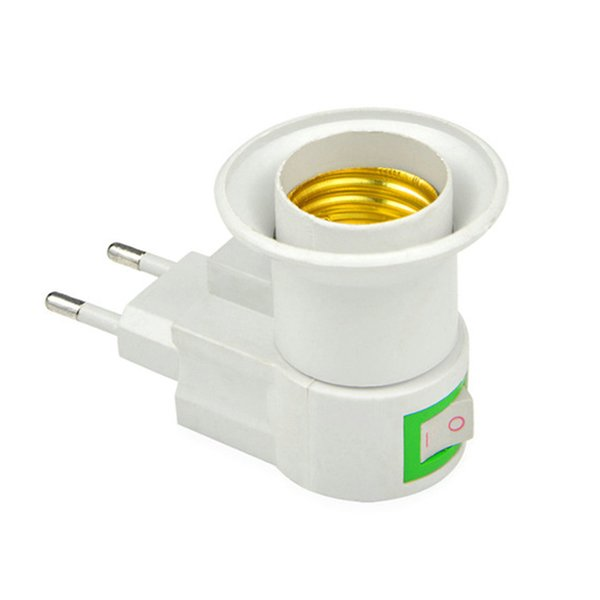E27 220V Screw Light Can Tilting EU Lamp Holder With Switch Round Foot Wall Type Mobile Lamp Shades