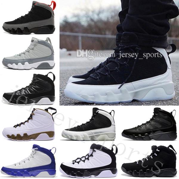 2018 Pas Cher 9 9s Chaussures de basket-ball pour hommes hommes space Jam Anthracite Barons L'esprit doernbecher 2010 release compte à rebours pack Athlétisme Sneakers