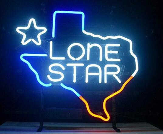 Texas Lone Star Beer Neon Light Sign Home Beer Bar Pub Recreation Room Game Lights Windows Glass Wall Signs 24*20 inches