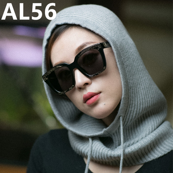 New Solid Letter Pm Skullies Beanies Fur Cotton Add Wool Ball Cap Winter Hat For Women AL56-59