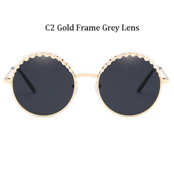 C2 Gold Frame Grey Lens
