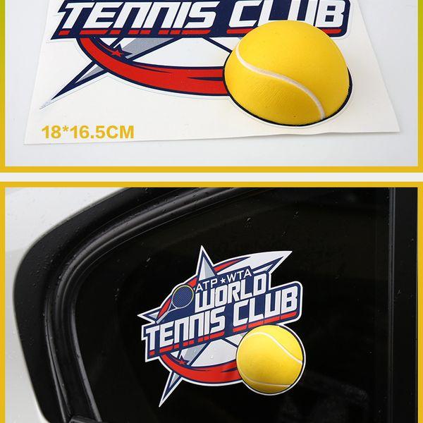 yellow tennis sticker