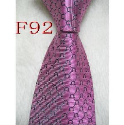 F92 Mens Classic Silk Polyester Designer Ties for Men Brand Neckwear Business Skinny Grooms Necktie for Wedding Party Suit Shirt luxury