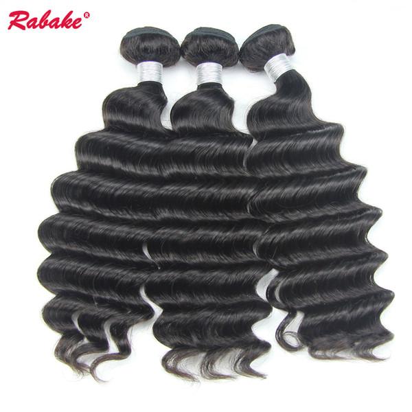 Remy lose tiefe Welle brasilianische unverarbeitete 9A Menschenhaar-Bündel Rabake lose tiefe lockige nasse und wellenförmige Haar-Webart-Erweiterungs-Großhandelspreis