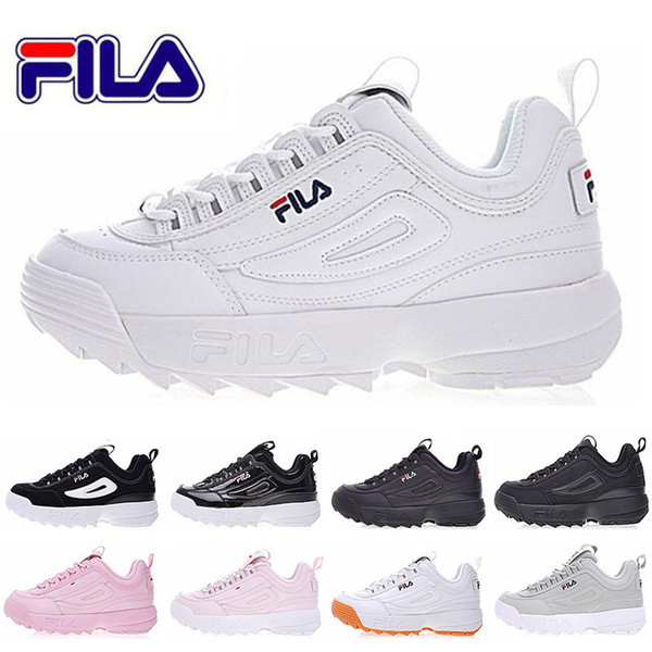Original FILA Women running Shoes black white Sand mens trainers designer FILE special section sports sneaker increased casual zapatos