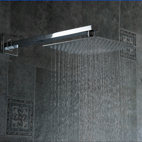 2019 High Quality 10 Stainless Steel Shower Head With Arm Wall Mounted  Ultra Thin Rain Shower Heads With Arm Ducha CP 1010A From Hymen, $73.87 |  DHgate.Com