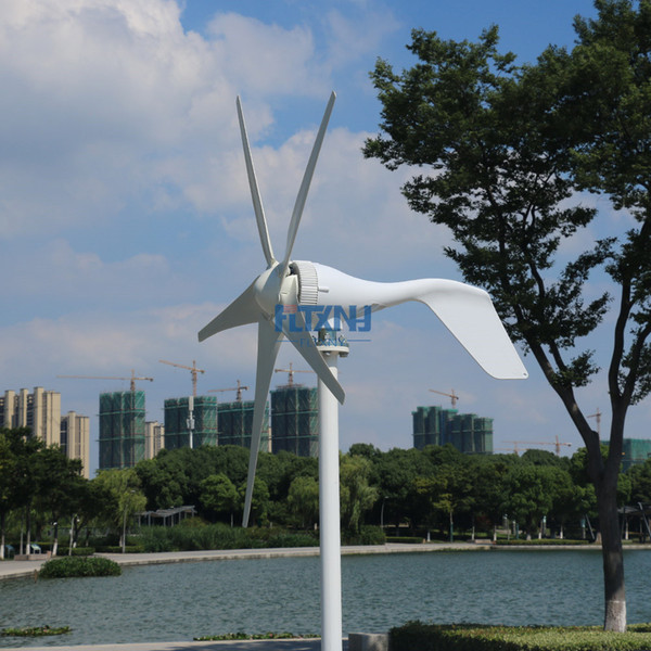 New product 400W horizontal wind turbine 3 or 5 blades 3 phase AC for home use