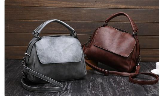 Female bag brown 2018 new foreign trade explosion models stitching pillow bag European and American fashion ladies shoulder bag