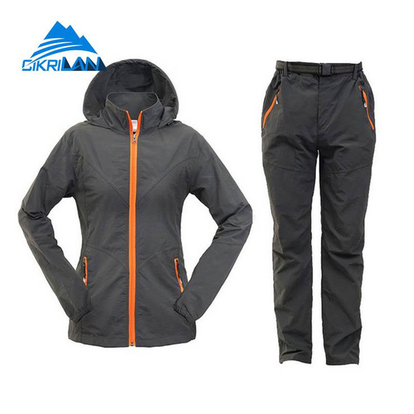 Summer Autumn Outdoor Sport Hiking Camping Fishing Sets Cycling Jacket Pants Women Hunting Clothes Quick Dry Sun Protection Suit